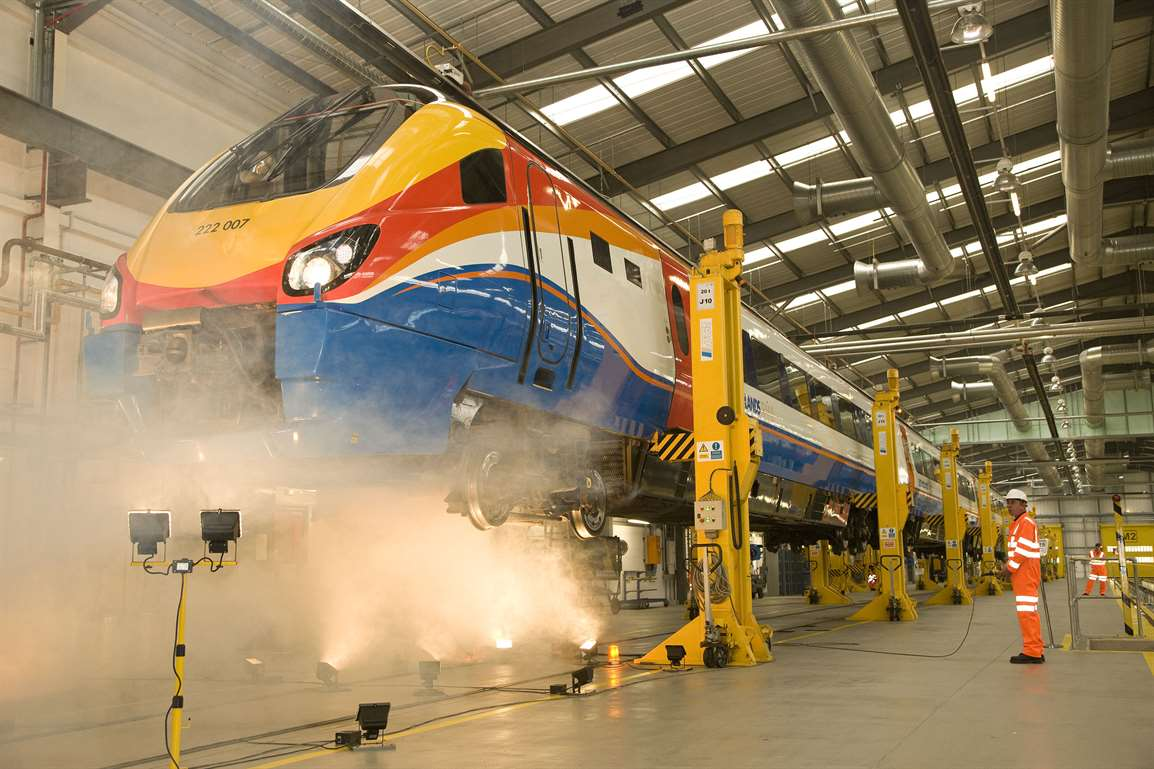 Depot Tour for Ex Forces and those considering careers in Train Engineering