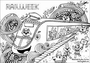 Rail Week Colouring Sheets 1