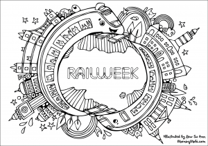 Rail Week Colouring Sheets 2