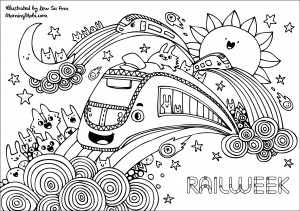 Rail Week Colouring Sheets 3