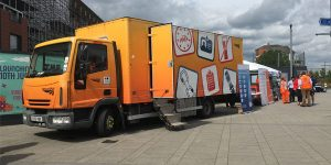 Network Rail's Safety Bus stops off at Reading station last week