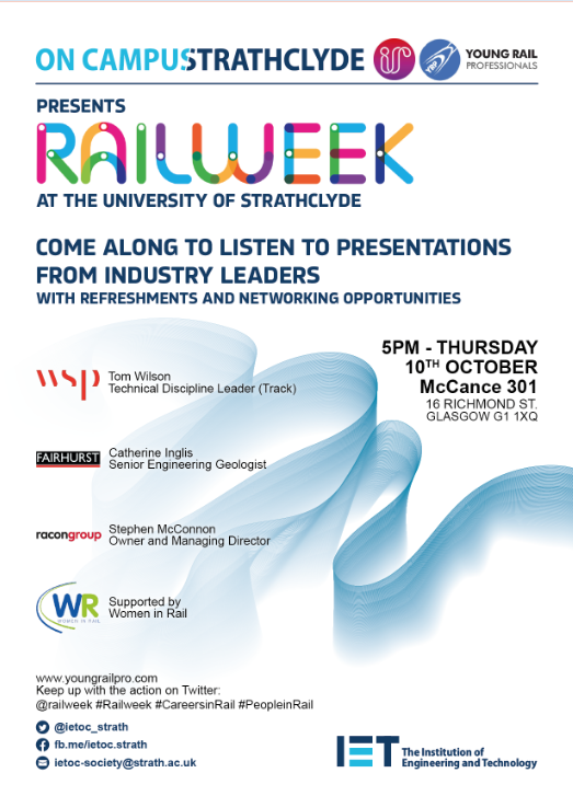 IET on Campus and Young Rail Professionals Presents: Rail Week